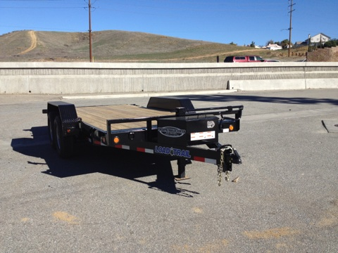 LOAD TRAIL 81.5X16′ HEAVY DUTY FULL BED EQUIPMENT TILT TRAILER