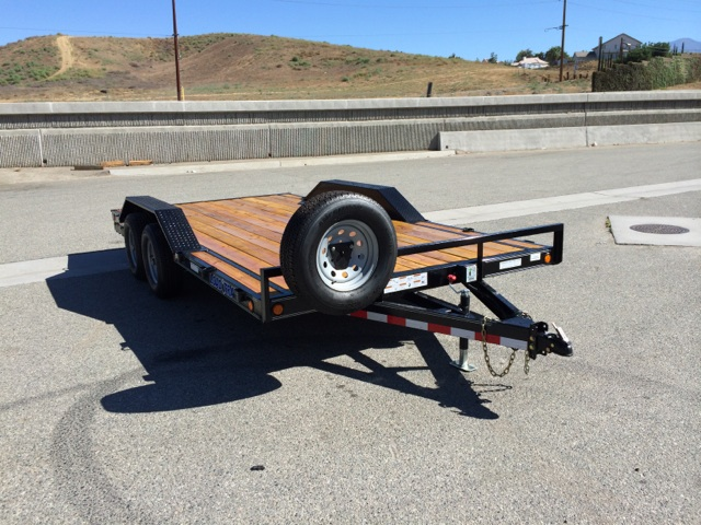 LOAD TRAIL 102X16 BUGGY OR CAR HAULER WITH DRIVE OVER FENDERS