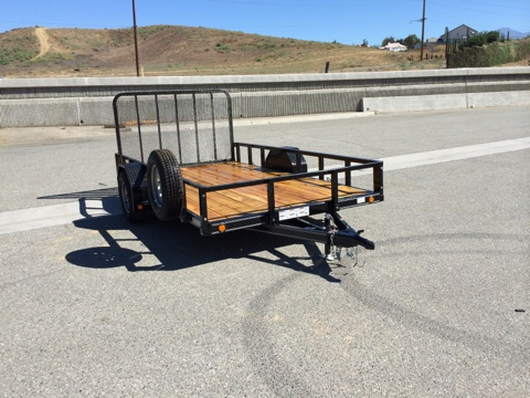 LOAD TRAIL SINGLE AXLE UTILITY TRAILER 80X12 FOR LANDSCAPE OR ATV'S
