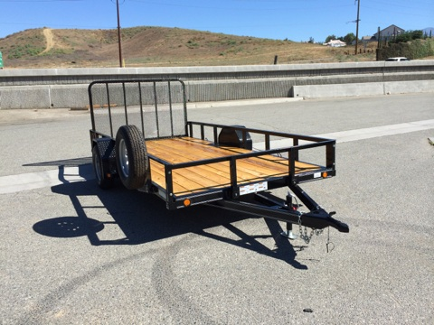LOAD TRAIL 80X14 HEAVY DUTY SINGLE AXLE UTILITY TRAILER FOR SALE