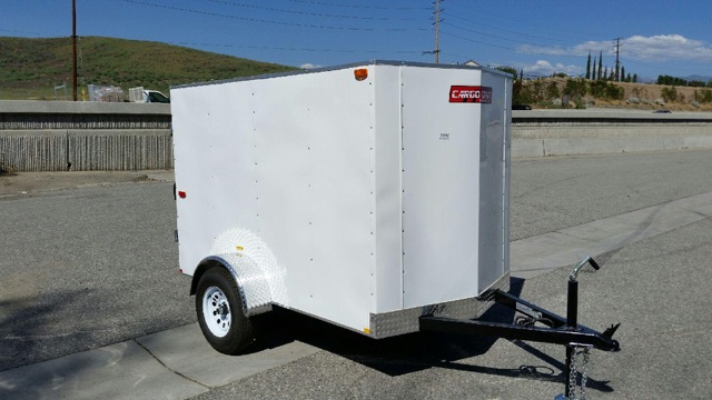 TNT TRAILER TCC5X8SA SINGLE AXLE CARGO CRAFT TRAILER WITH CARGO DOORS FOR SALE