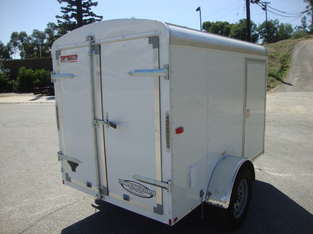 TNT TRANSIT TRA5X8SA SINGLE AXLE TRAILER WITH CARGO DOORS AND A SIDE DOOR