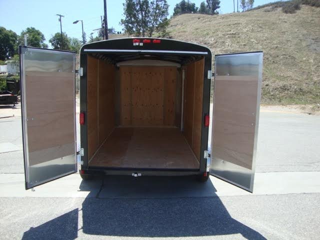 TNT TOTE TOT6X12SA SINGLE AXLE ROUND TOP CARGO TRAILER WITH DOUBLE DOORS